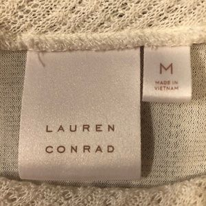 LC Lauren Conrad Sweaters - Lauren Conrad Knit and Lace Top T73